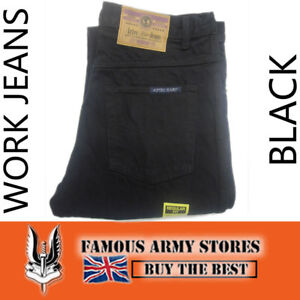 Mens Tough Hard Wearing Work Denim Jeans - Regular Fit