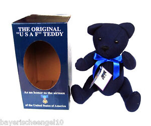 TEDDYBÄR US AIR FORCE USAF TEDDY BEAR ORIGINAL REPLICA SAMMLER RAR