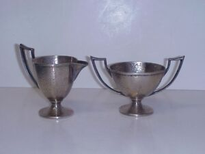 HOMAN-CO-SILVERPLATE-CREAMER-SUGAR-BOWL-SET