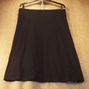 NWT-Womens-M-Skirt-Knit-Cotton-Jersey-Black-Stretch