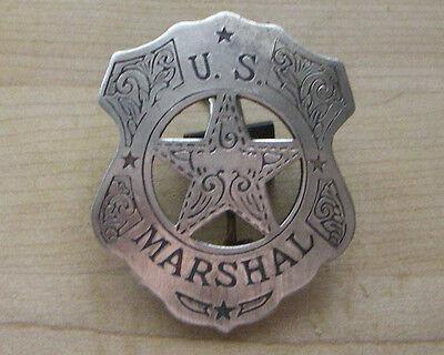 U.S. MARSHAL BADGE  B W -25 SHERIFF  WESTERN  POLICE