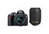 Nikon  D3100 14.2 MP Digital SLR Camera - Black (Kit w/ 18-55mm and 55-200mm Lenses)