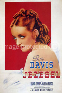 Jezebel Vintage Bette Davis Movie Poster Print -24x36