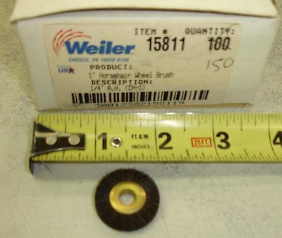 Lot Of 5 Weiler Brush 15811 1 Horsehair Wheel Brush Ch-1