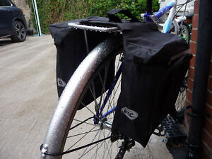 ETC DOUBLE PANNIER BIKE BAGS PANIER BAG SET 600D CYCLE