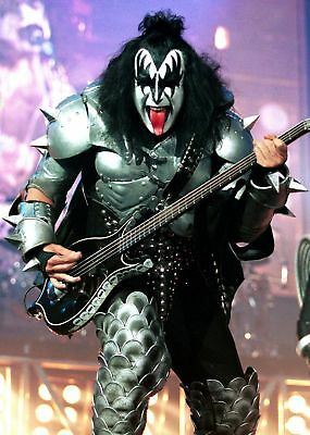 KISS - GENE SIMMONS BAND ROCK CONCERT GLOSSY 8x10 PHOTO PICTURE