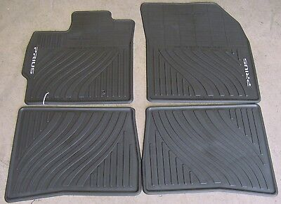 Toyota Prius 2012   2015 Black All Weather Rubber Floor Mats   OEM NEW