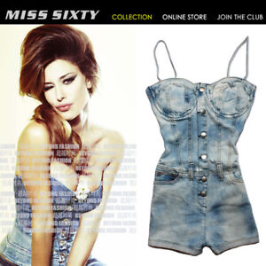 NEW-Sexy-Hot-Denim-MISS-SIXTY-Lady-Cool-Short-Jumpsuit