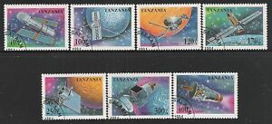 TANZANIA-1994-7-VALORI-OBLITERATI-RICERCHE-SPAZIALI-IN-OTTIME-CONDIZIONI