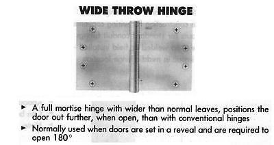 Stanley Fbb179wt-4.5x5 Wide Door Hinge,satin Chrome