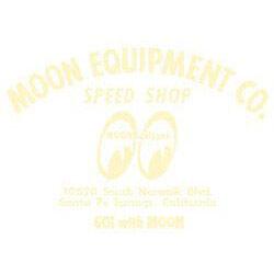 Mooneyes-Moon-Equipped-Cream-Speed-Shop-Script-Die-Cut-Sticker-Stickers-Decal-VW