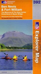Ben Nevis - 392 - Explorer - Ordnance Survey Map