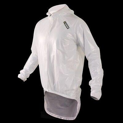 Sobike Cycling Pro Rain Coat Bike Jersey -amazon White
