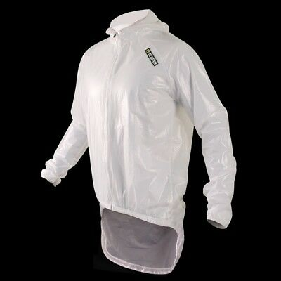 Sobike Cycling Pro Rain Coat Bike Jersey -amazon White