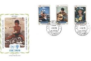 Aitutaki 1979 Mi FDC 310-12 Year of Child Kindes - <span itemprop=availableAtOrFrom>Dabrowa Bialostocka, Polska</span> - Aitutaki 1979 Mi FDC 310-12 Year of Child Kindes - Dabrowa Bialostocka, Polska