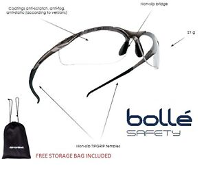 Bolle-Clear-Glasses-100-UV-protection-low-light-cycling-Safety