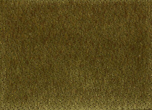 Solid Olive Green Velvety Chenille Upholstery Fabric