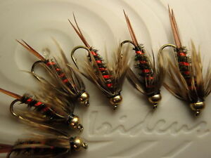 Irideus big trout royal flush bead head nymph trout fly for Royal flush fishing