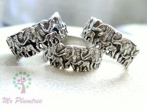 Pewter-Family-of-Elephants-Ring-Sizes-M-N-O-R-S-T-V