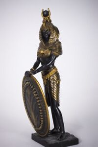 ANCIENT EGYPTIAN LARGE GODDESS ISIS SHIELD DEITY STATUE
