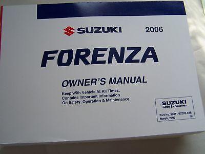 2006 Suzuki Forenza Owners Manual Parts Service Original