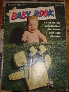 1953-Star-Baby-Book-96-BABY-BOOK-Crochet-Knitted