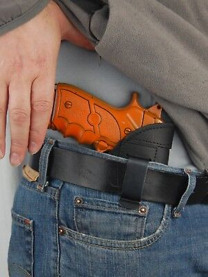 Barsony Black Leather Iwb Holster Taurus 24/7 9mm 40 45