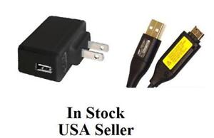 NEW-AC-Home-Wall-Charger-USB-Cable-Cord-for-Samsung-PL120-Camera