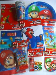 SUPER-MARIO-BROS-WII-PARTY-RANGE-Partyware-Balloons-Toys