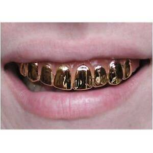 Old-School-Rapper-Pimp-Costume-GOLD-GRILL-Teeth