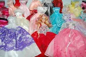 Fashion-15X-Barbie-Dress-Clothes-Shoes-hangers