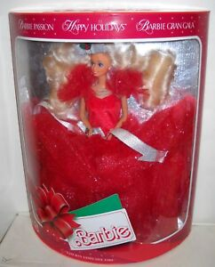 #451 RARE MIB 1989 Happy Holidays Barbie Foreign