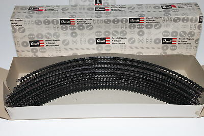 "N Scale Arnold Rapido / Revell Lot of 20 Pieces 8"" Radius Curved 90 Degree Track"