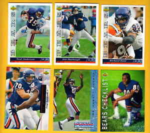 1993-UD-Chicago-Bears-Set-RICHARD-DENT-JIM-HARBAUGH-NEAL-ANDERSON-MARK-CARRIER