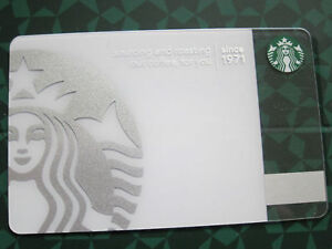 New Unused 40th Anniversary Starbucks Card Silver Logo