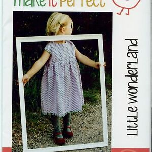 MAKE IT PERFECT Little Wonderland GIRLS Party Dress Size 0 - 5 SEWING PATTERN