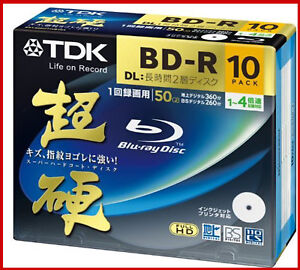 10-TDK-Bluray-Disc-50GB-BD-R-DL-Dual-Layer-Blu-ray-Inkjet-Printable-Repack