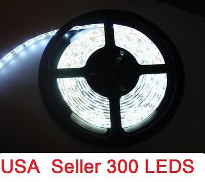 New Cool White 5M 16FT Waterproof 5050 SMD LED Strip 300 LEDS + Power Supply 12V on Rummage