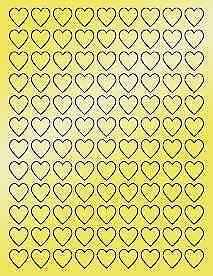 6-SHEETS-3-4-BLANK-GOLD-HEARTS-STICKERS-LABELS-FAVORS