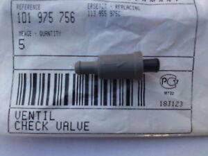 VW WINDSCREEN SCREEN WASHER JET 1 ONE WAY VALVE 5 MM 5MM INLINE PLASTIC TUBE
