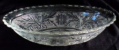 "Anchor Hocking Glass SANDWICH * 8-5/8"" Oval Bowl CLEAR"
