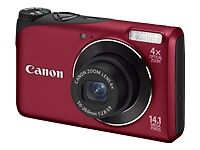 Canon PowerShot A2200 14.1 MP Digital Camera Red 4GB Card Bag Free Shipping!