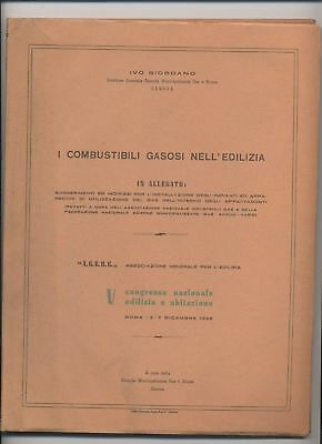 COMBUSTIBILI GASOSI EDILIZIA congresso nazionale 1958