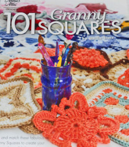 CROCHET PATTERN BOOK-101 Granny Squares-Yarn-Wool- Craft