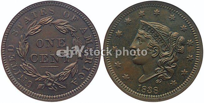 1838, Coronet Cent
