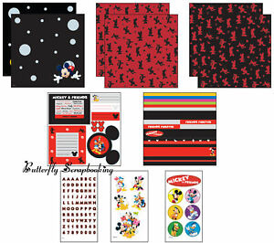 DISNEY MICKEY MOUSE Paper Crafting 12x12 Scrapbooking Kit EK SUCCESS DMPK4 New