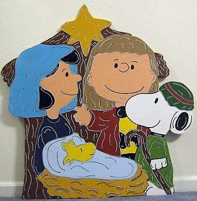 Clearance sale nativity peanuts christmas yard art decoration