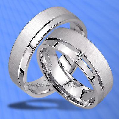 Trauringe , Eheringe Mit Diamant , Silber 925 , J95-1