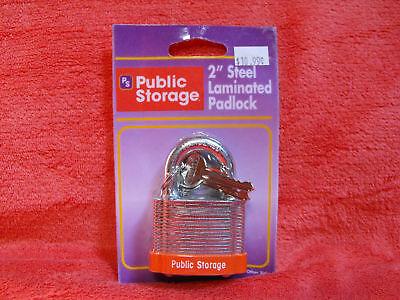 New Public Storage 2  Hardened Steel Laminated Padlock