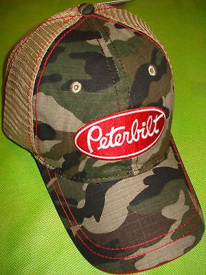 Peterbilt Hat: Camo Summer Mesh Free Ship
